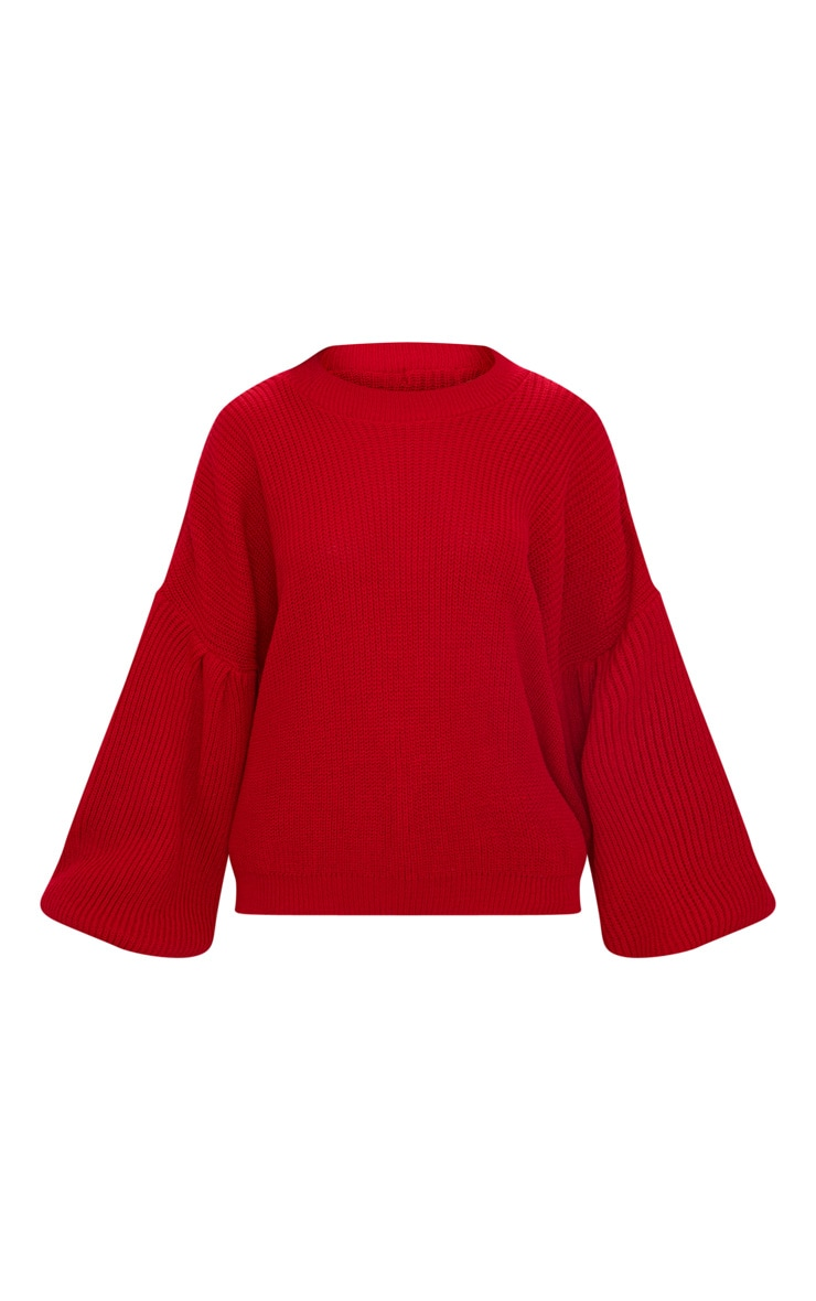 Red Extreme Balloon Sleeve Jumper 3