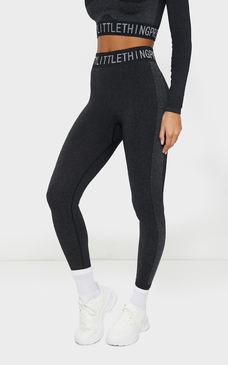 PRETTYLITTLETHING Black Seamless Gym Legging 2