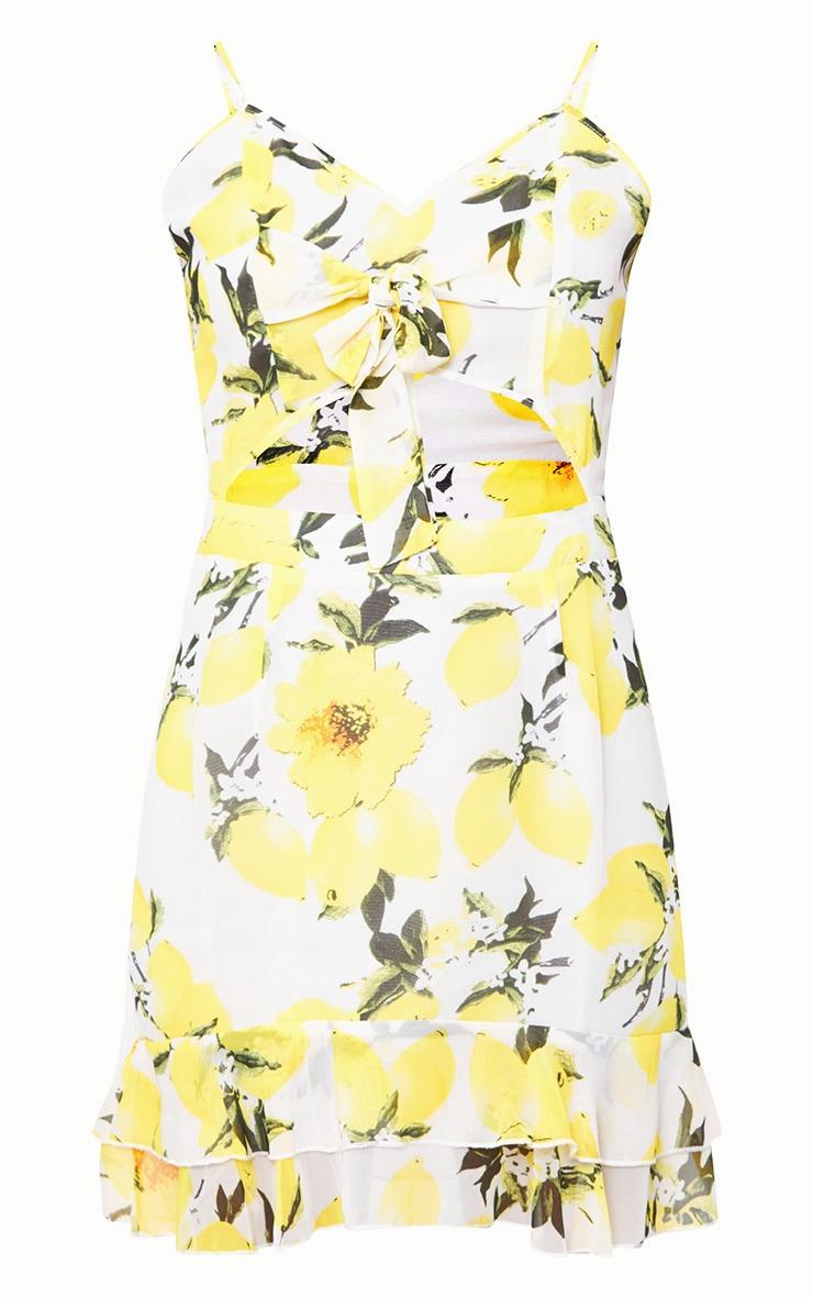 Lemon Printed Bodycon Dress 3