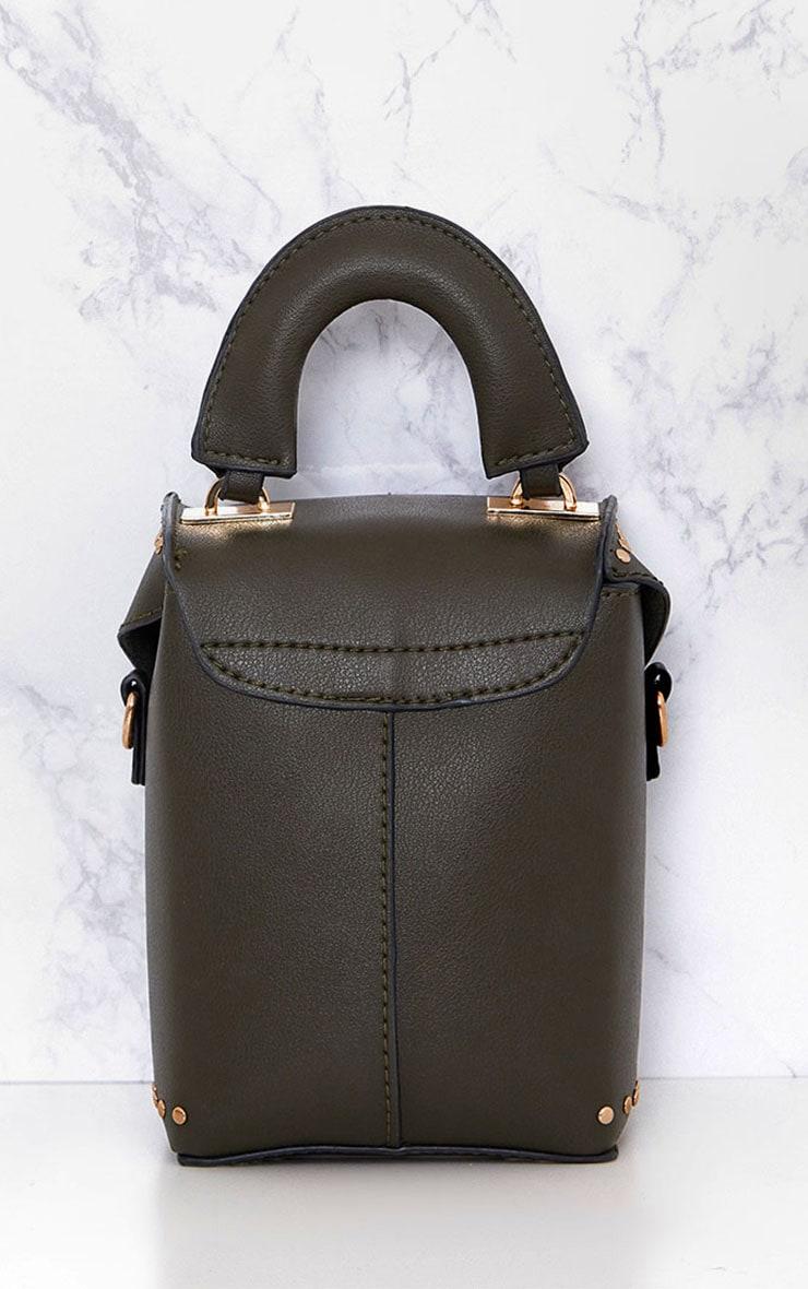 Olive Mini Handled Handbag 4