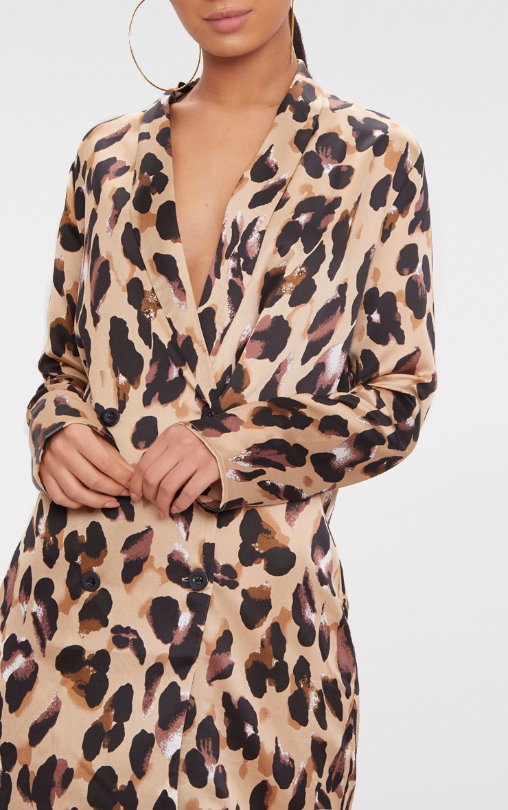 Leopard Oversized Loose Fit Blazer  Dress 5
