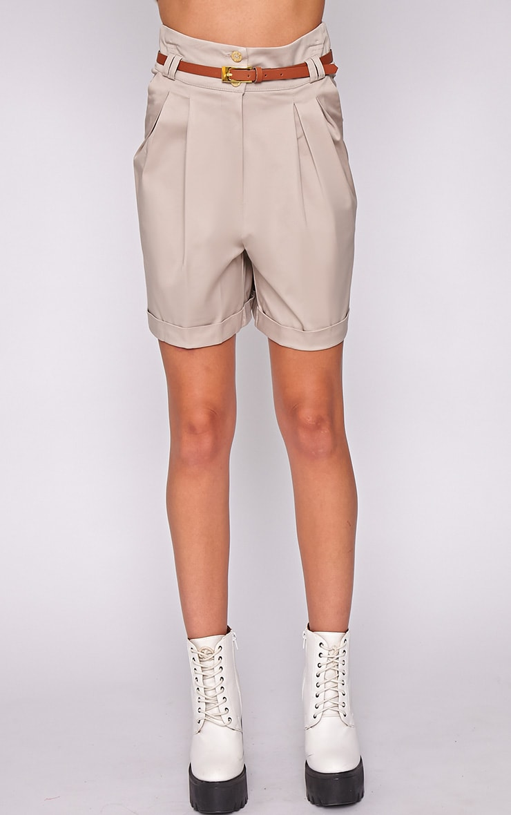 Sally Beige Tailored Shorts 2