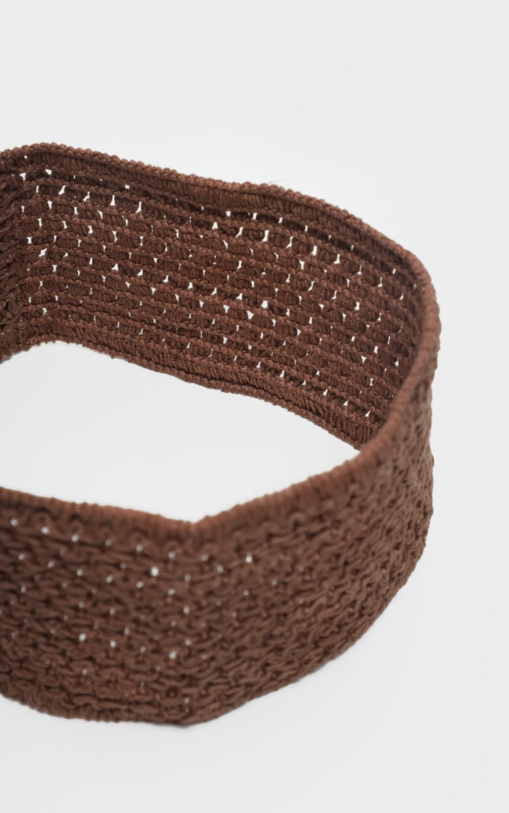 Brown Crochet Headband 2