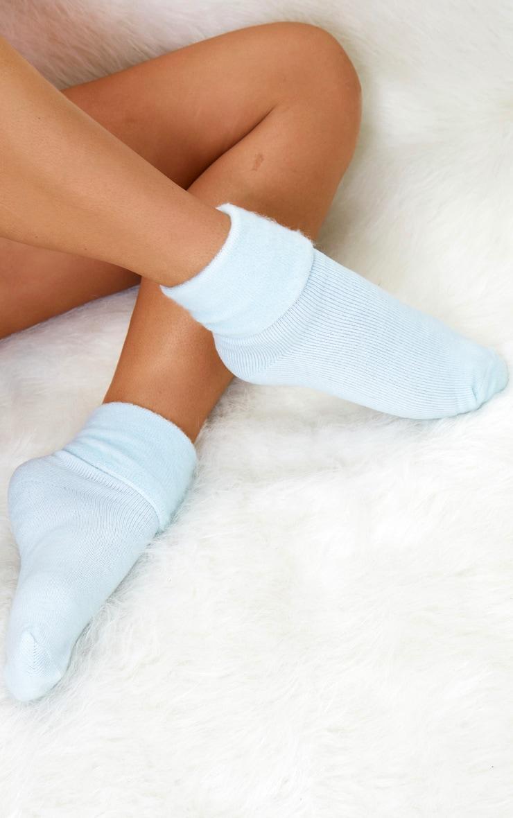 blue cosy socks