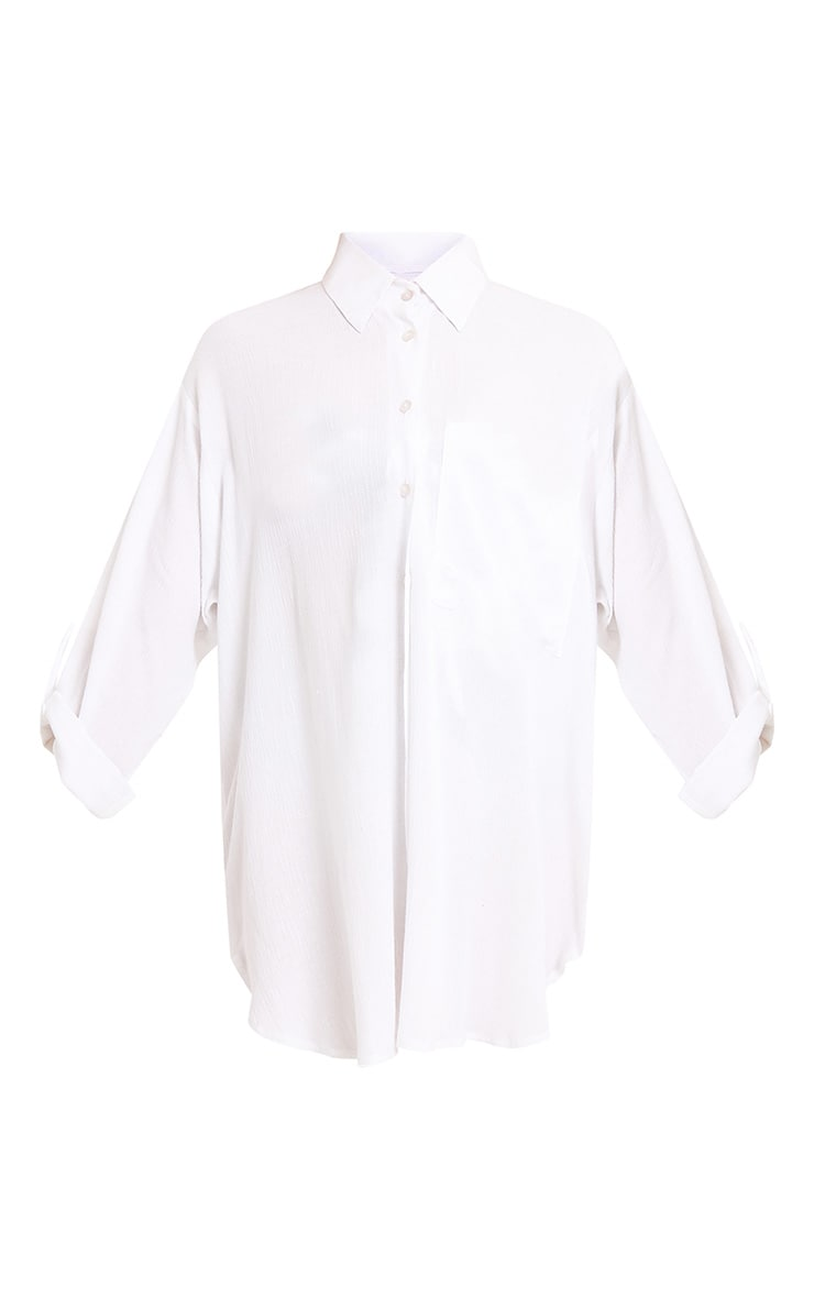 Dorsey White Beachwear Shirt 3