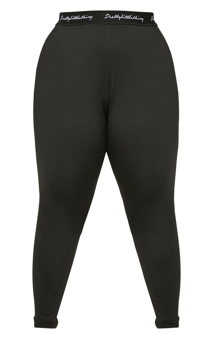 PRETTYLITTLETHING Black Plus Elasticated Band Leggings 3