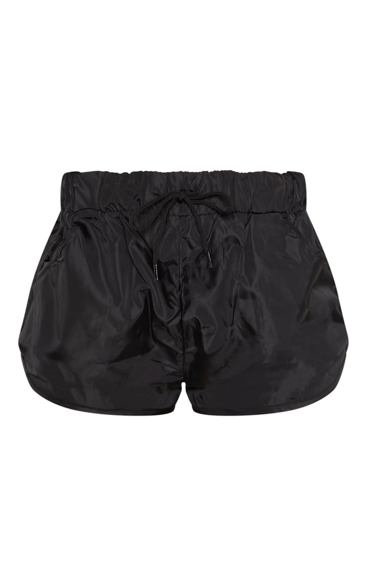 Black Shell Pocket Detail Runner Short 3