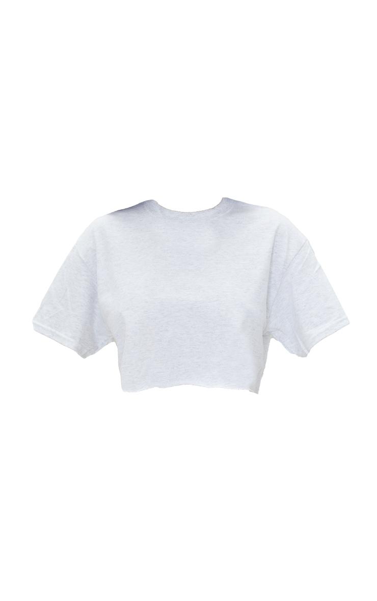 Ash Grey Ultimate Crop T Shirt 5