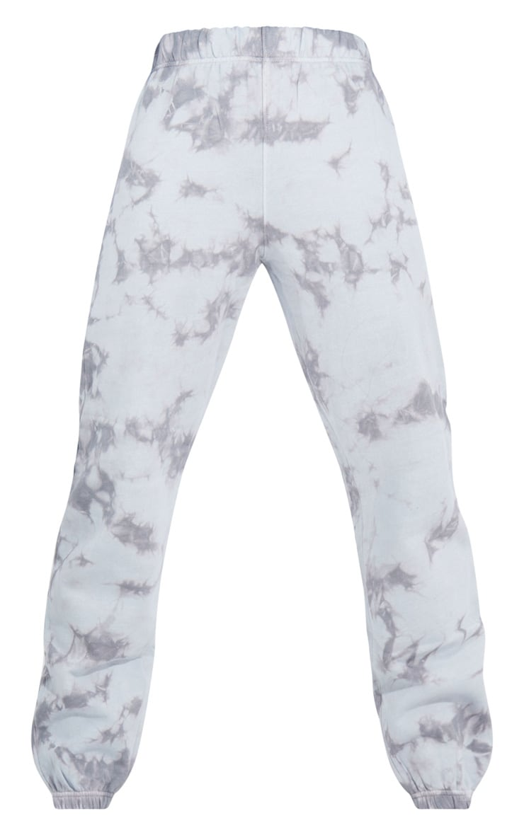 Tall Grey Oversized Tie Dye Joggers 5