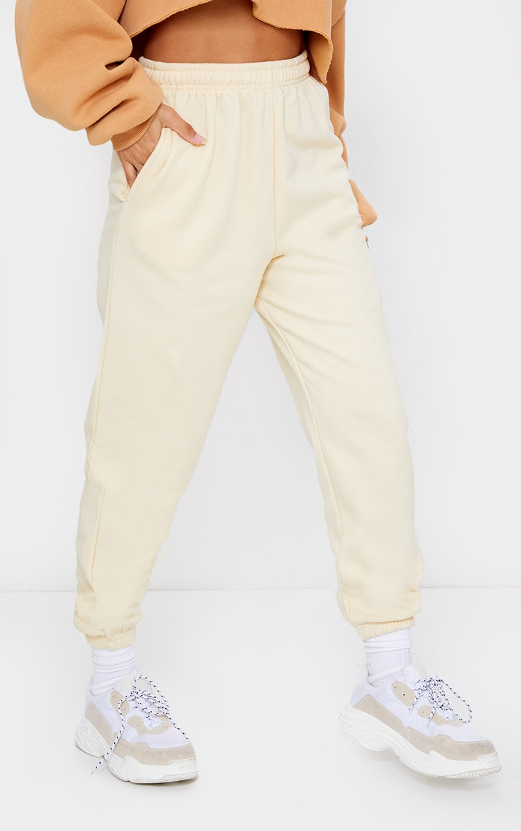 Pantalon de jogging jaune clair casual 2