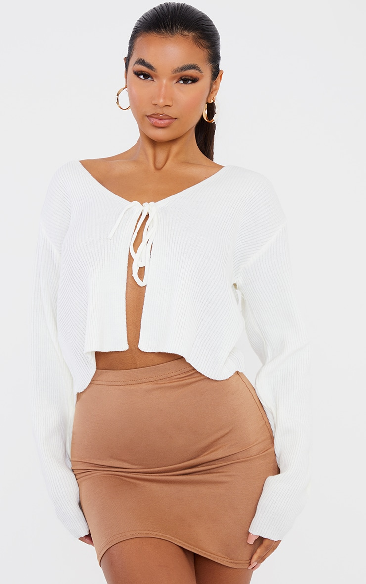 Basic Camel Jersey Mini Skirt 4
