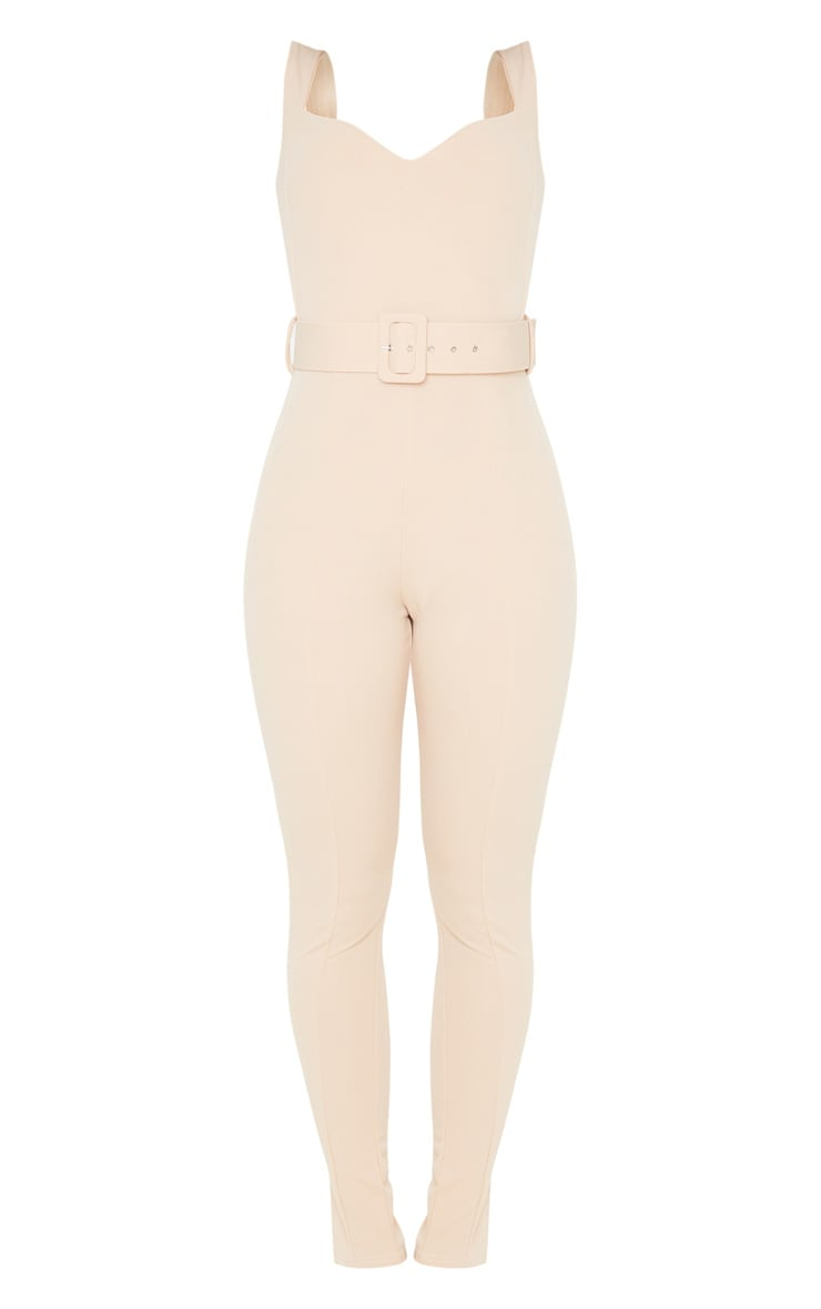 Stone Belt Detail Sweetheart Neckline Jumpsuit 3