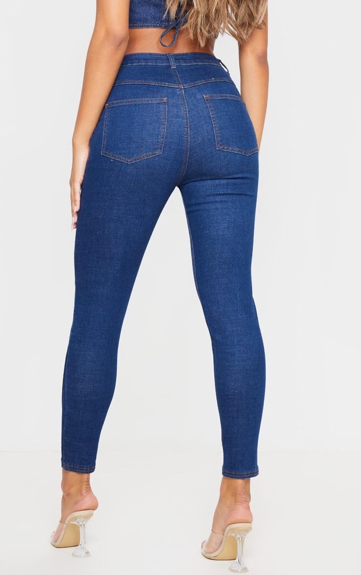 Mid Wash Seam Detail Skinny Jeans 4