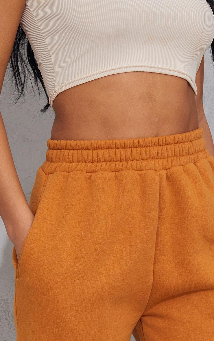 Mustard Sweat Pocket Shorts 5