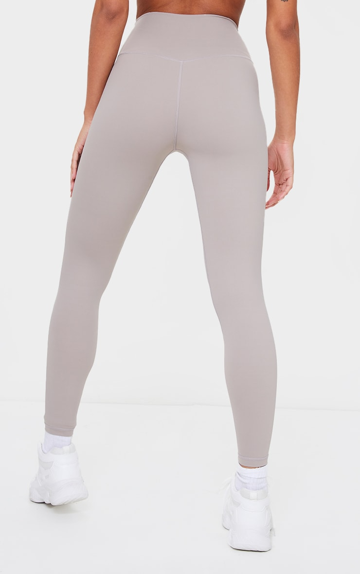 PRETTYLITTLETHING Taupe Sculpt Luxe high Waist Gym Legging 3