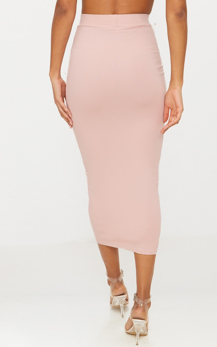 Rose Second Skin Bodycon Midaxi Skirt 4