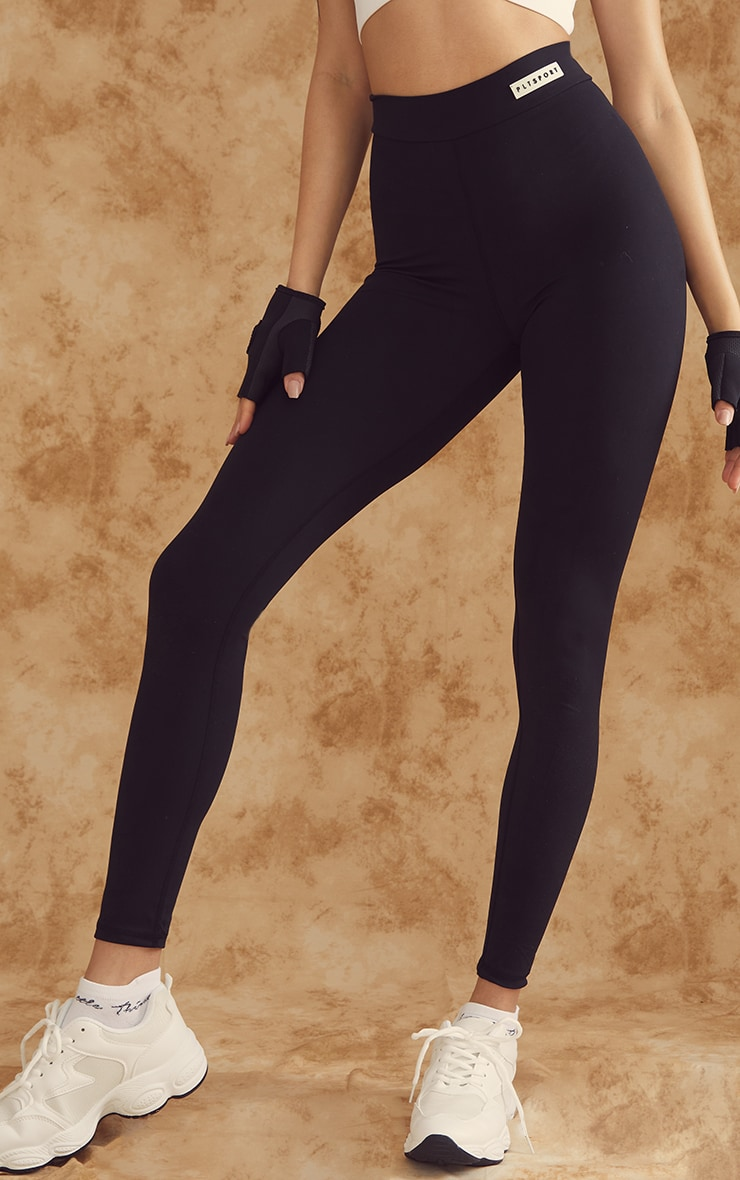 PRETTYLITTLETHING Black Sculpt Luxe Gym Leggings 2