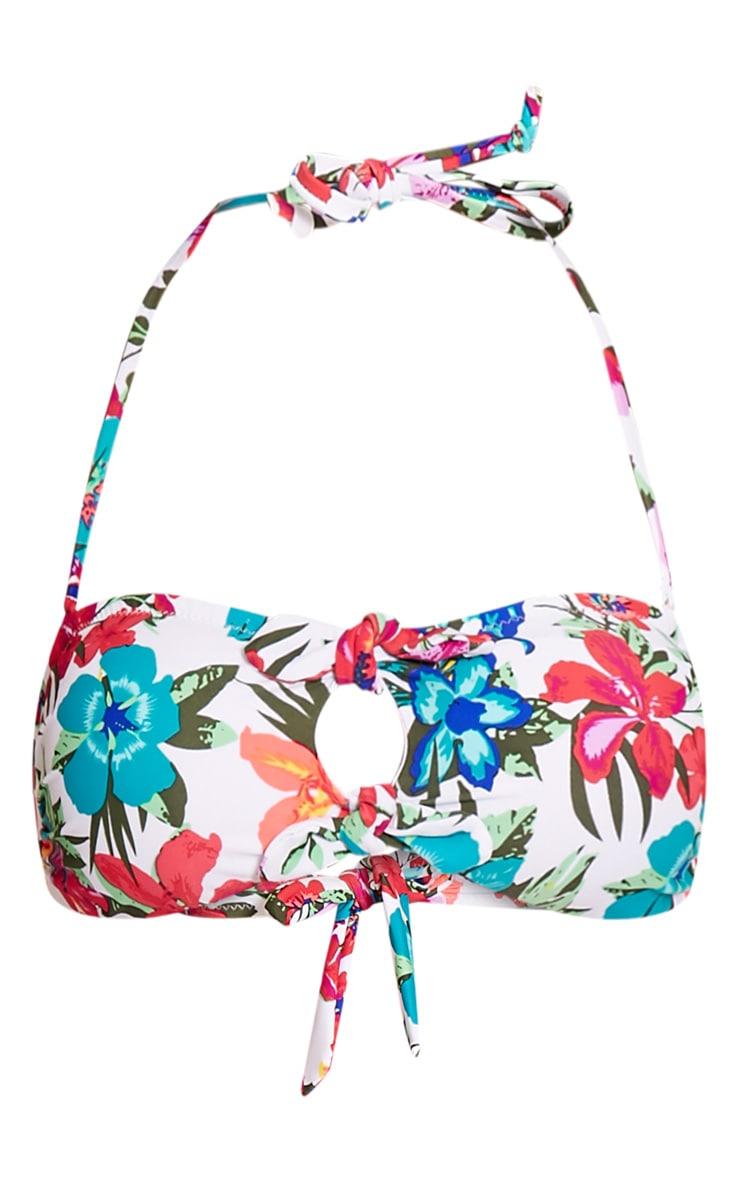 Mari Multi Floral Print High Waisted Bikini 3
