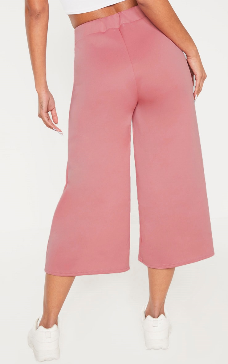 Rose Basic High Waisted Scuba Culottes 4