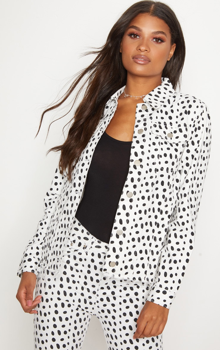 Polka Dot Abegaila Denim Jacket 1