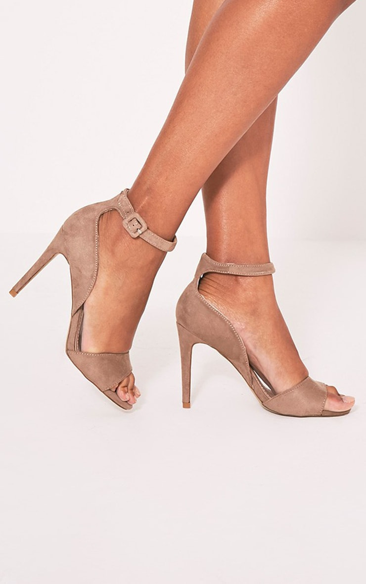 Baylie Stone Faux Suede Strappy Heeled Sandals 2