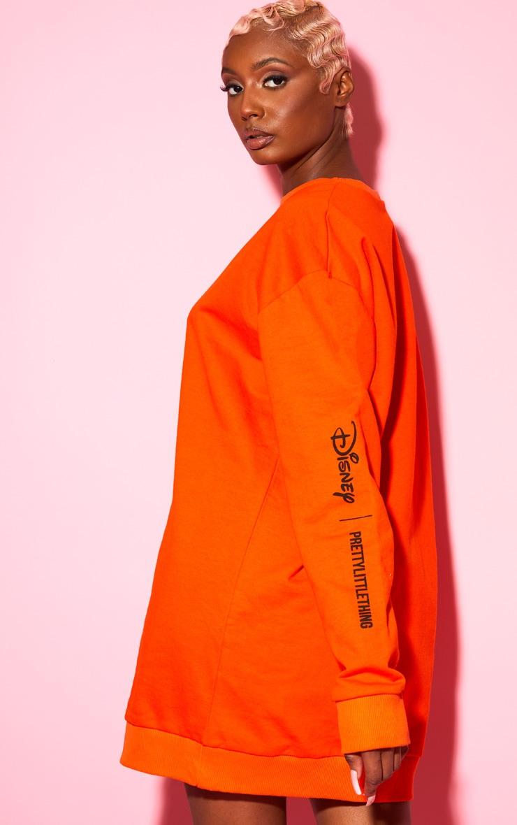 Orange Disney Mickey Sweater Dress 2