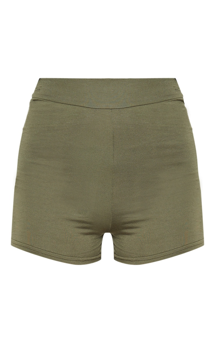 Basic Khaki High Waisted Shorts 3