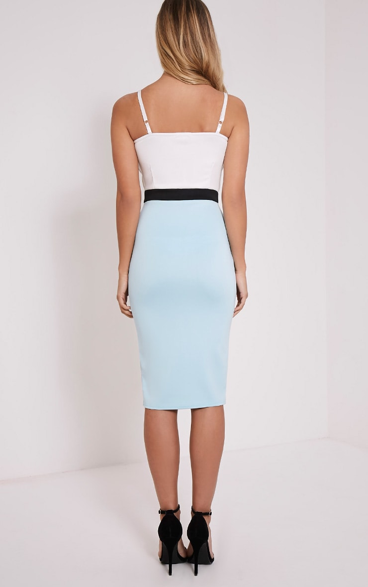Saga Powder Blue Three Panel Dress 2