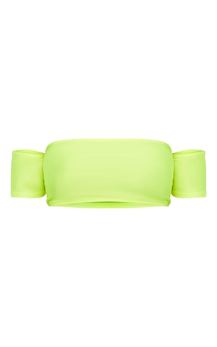 Shape Lime Disco Slinky Choker Crop Top 3