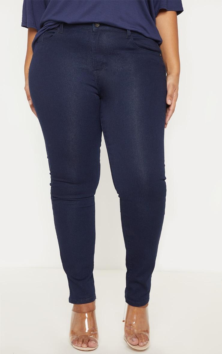Plus Mid Wash Pocket Detail Skinny Jeans 2