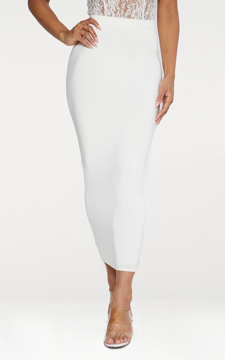 Seconde Peau - Jupe longue blanche  3