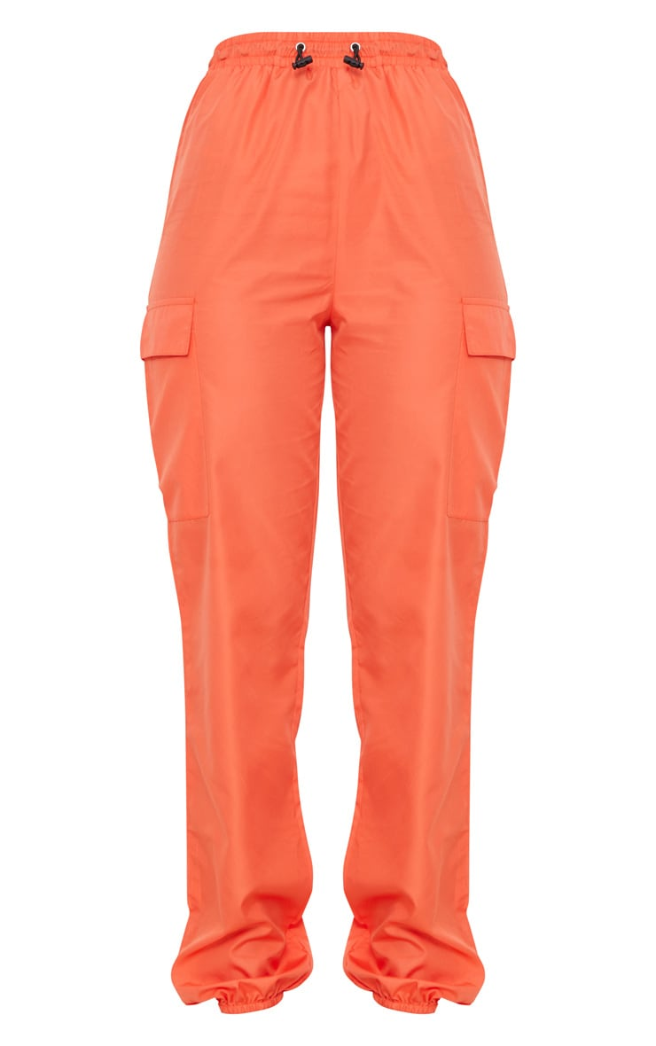 Orange Toggle Waist Shell Suit Track Pants 3