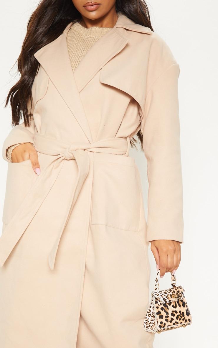 Stone Maxi Belted Coat 5