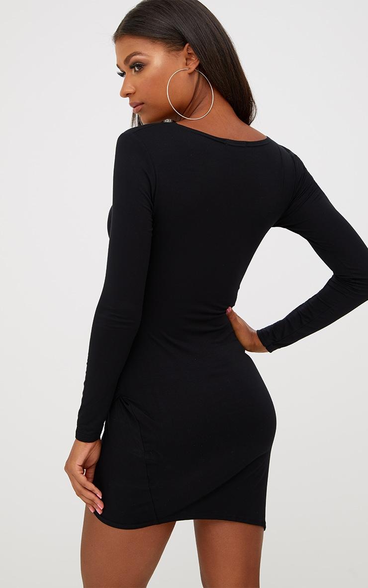 Kendi robe mini cache-cœur noire 2