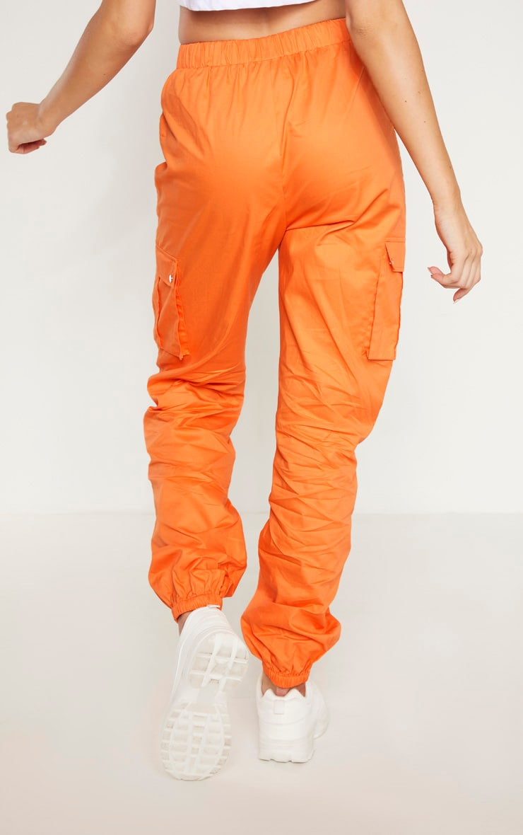 Tall - Pantalon cargo orange à détail poches 4