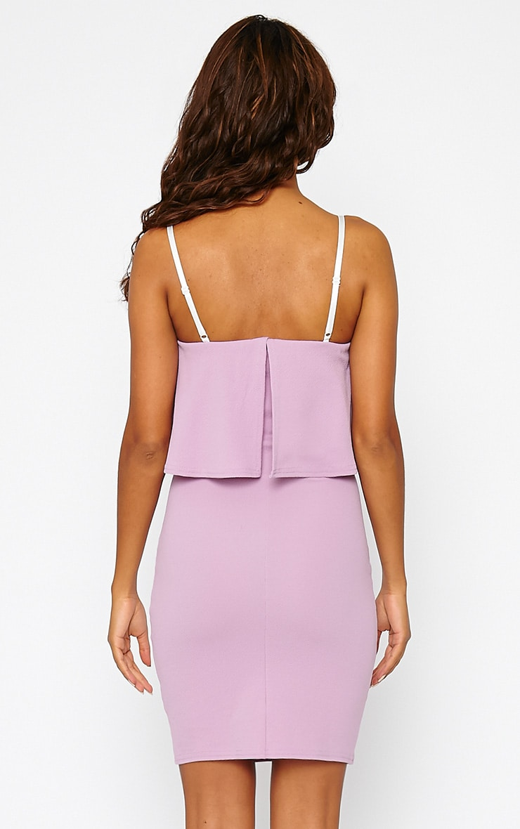 Hari Mauve Frill Front Mini Dress 2