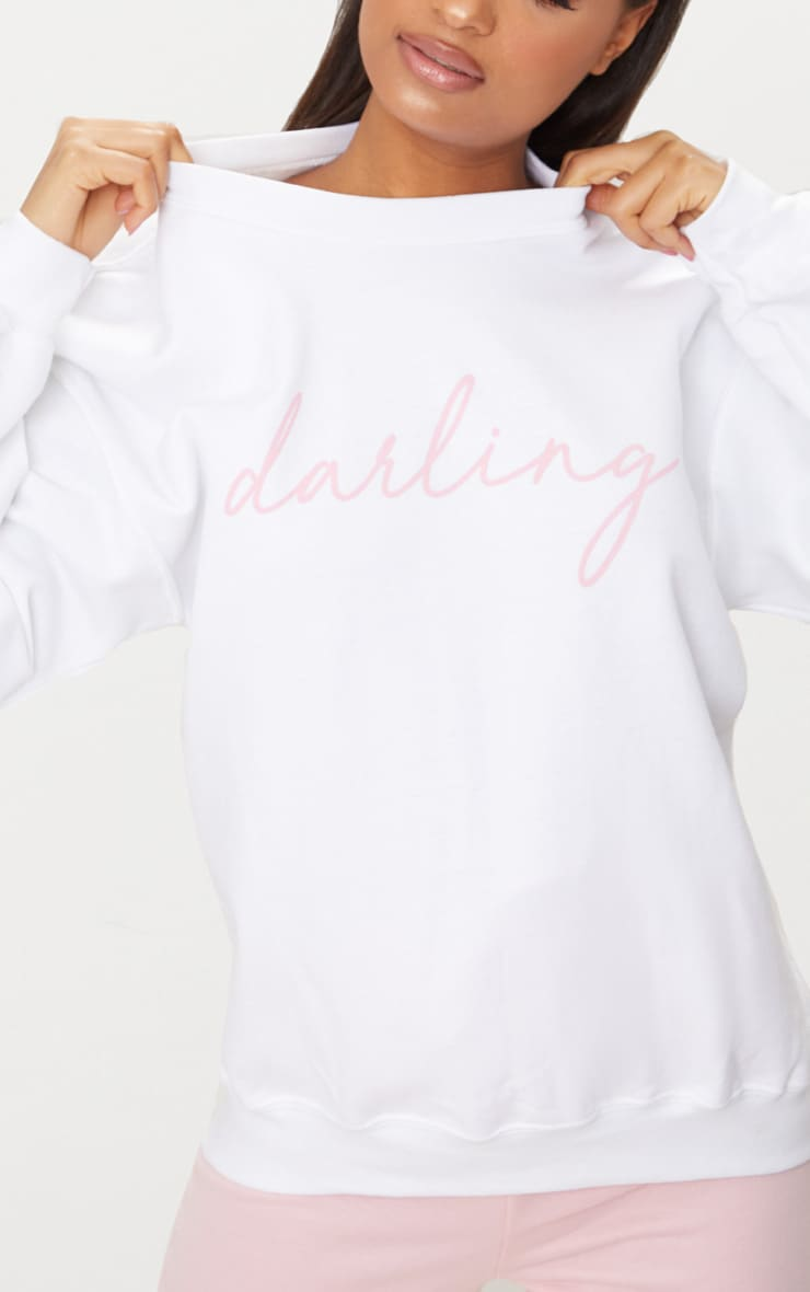 Sweat oversized blanc Darling 5