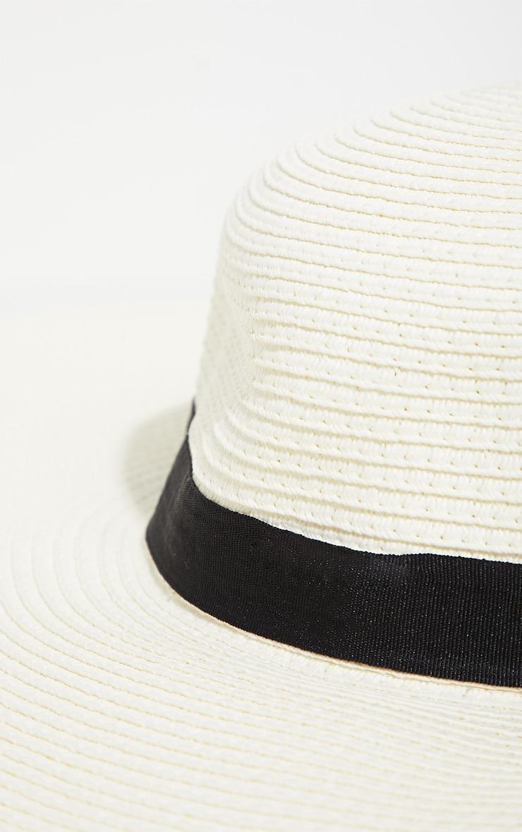 Nude Straw Wide Brim Floppy Hat 3