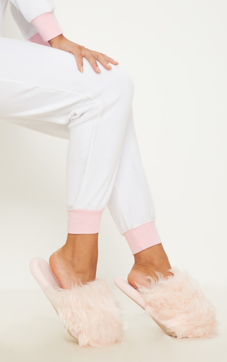 Pink Faux Fur Slipper