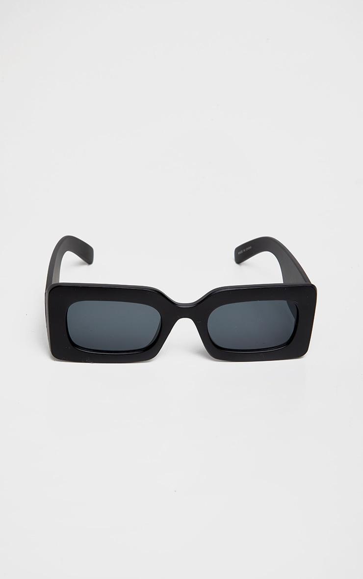 Black Oversized Square Frame Sunglasses 2