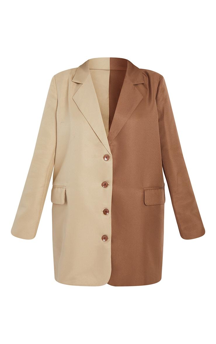 Petite Stone Contrast Oversized Blazer Dress 5