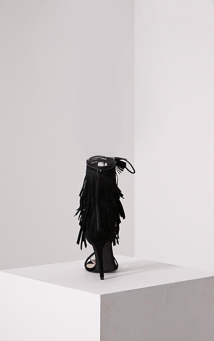 Haiden Black Tassel Strap Sandals 4