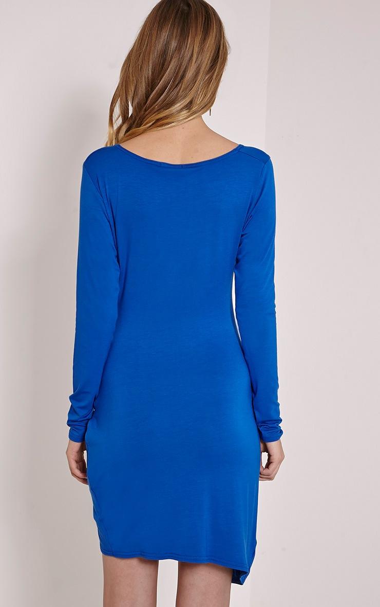 Kendi Cobalt Wrap Mini Dress 2