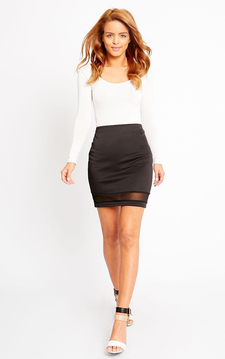 Attie Black Scuba Mesh Mini Skirt 6