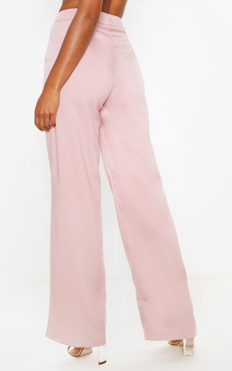 Dusty Rose Wide Leg Suit Pants 4