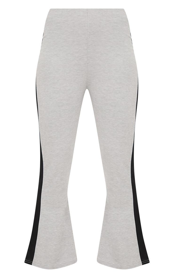 Grey Track Stripe Kick Flare Trousers 3