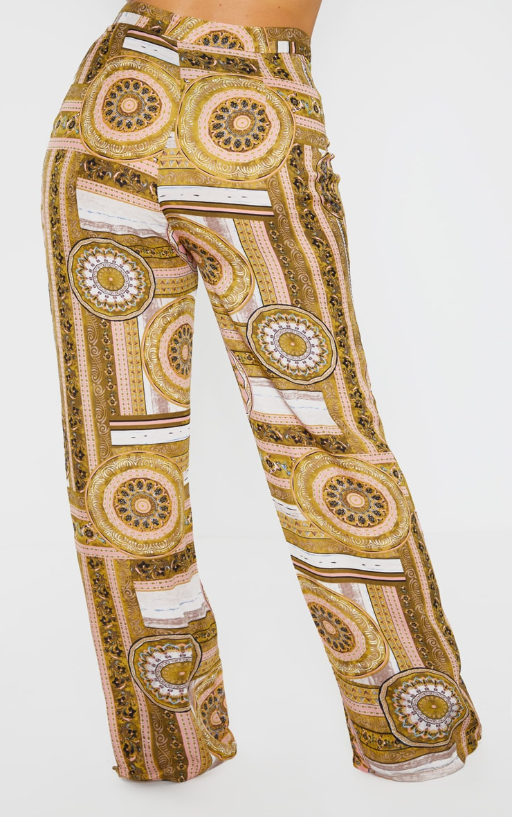 Plus Multi Chain Print Wide Leg Trouser  4