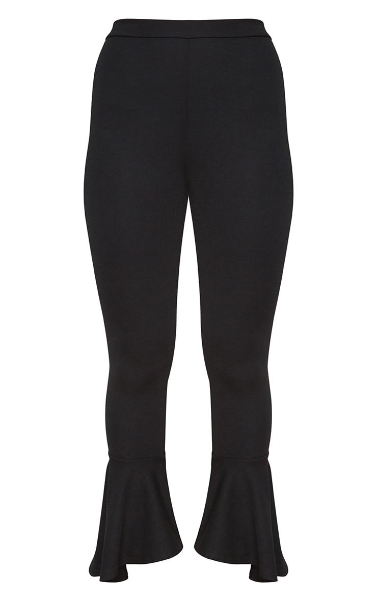 Petite Black Flare Hem Trousers 3