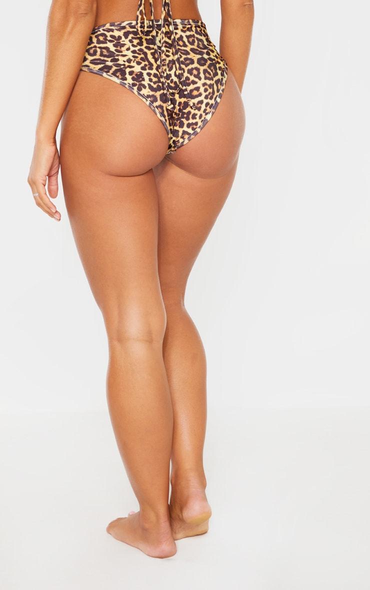 Leopard Mix & Match V Front Brazilian Bikini Bottom 4