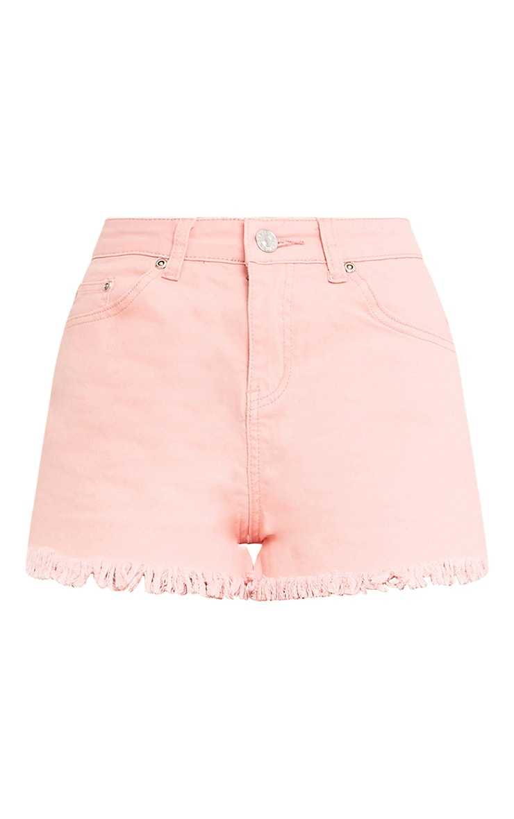 Jaydanne Pink Fray Edge Denim Short 3